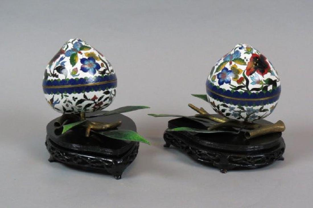 Pair of Chinese Cloisonne Boxes,