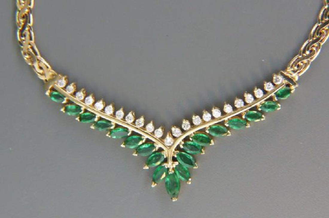 Emerald & Diamond Necklace,