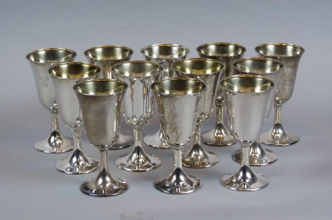 12 Schofield Sterling Silver Goblets,