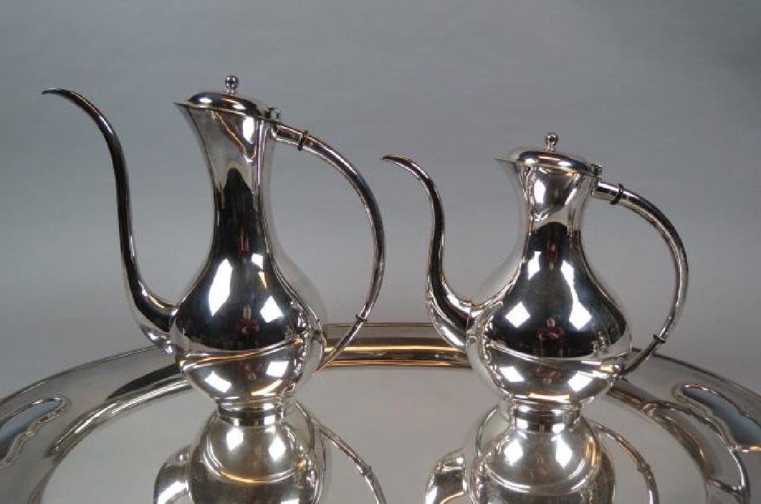 5 pc. Sterling Tea & Coffee Service with Tray, - 3