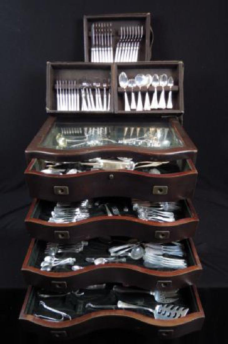 "325 pc. Gorham ""Old French"" Sterling Flatware Set,"