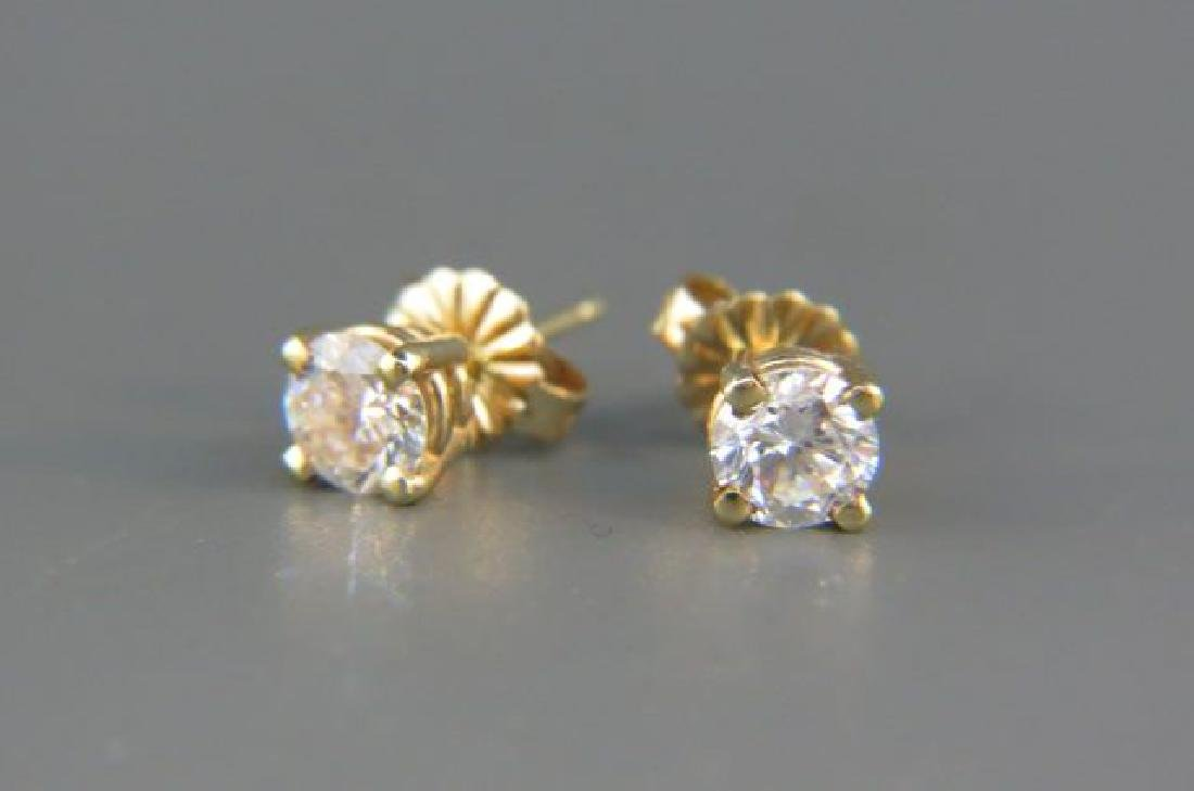 Diamond Stud Earrings,