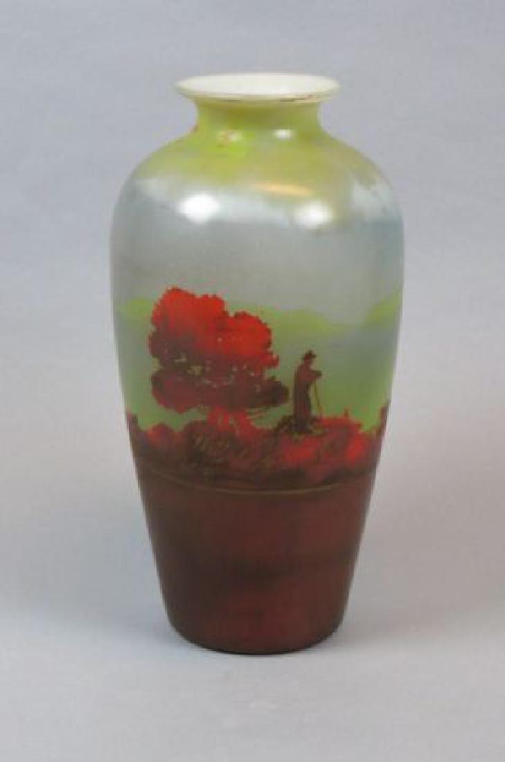 Muller Freres Cameo Art Glass Scenic Vase, - 2