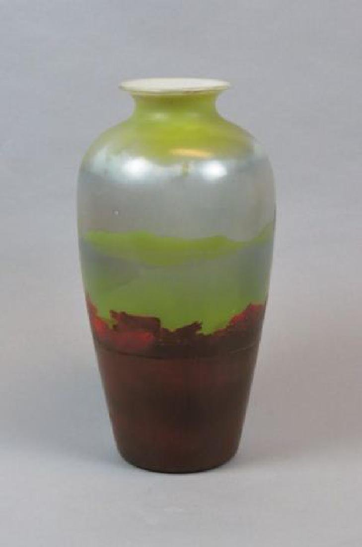 Muller Freres Cameo Art Glass Scenic Vase, - 3