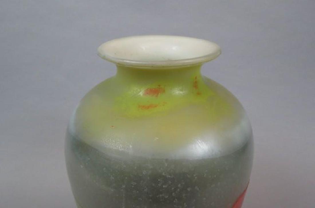Muller Freres Cameo Art Glass Scenic Vase, - 5