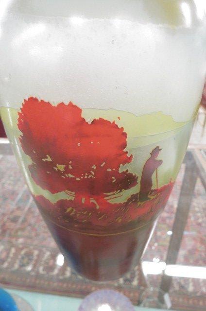 Muller Freres Cameo Art Glass Scenic Vase, - 6