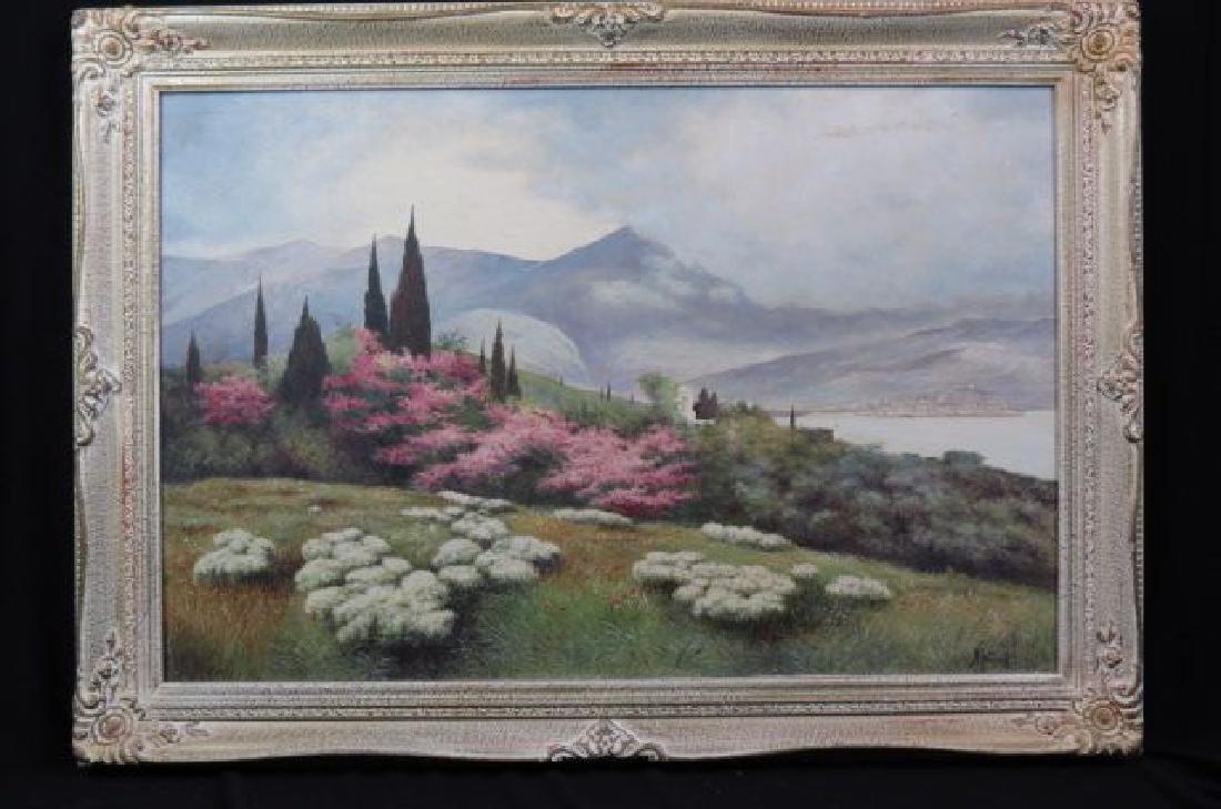 Nicholas Ivanov, oil, Spring Landscape, - 2