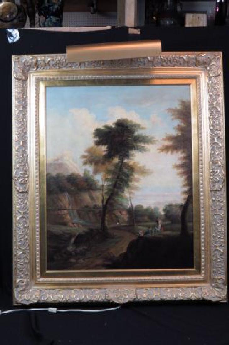 Decorative Oil Painting Italianate River Landscape