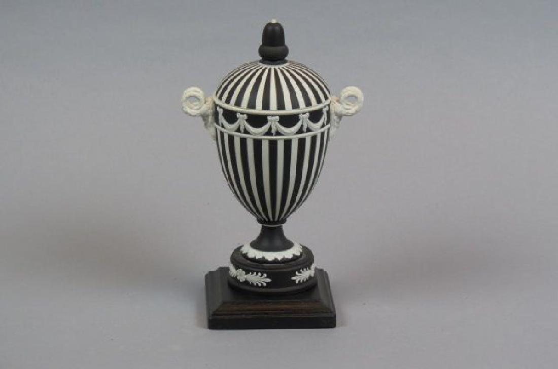 Wedgwood Black & White Jasperware Jar,