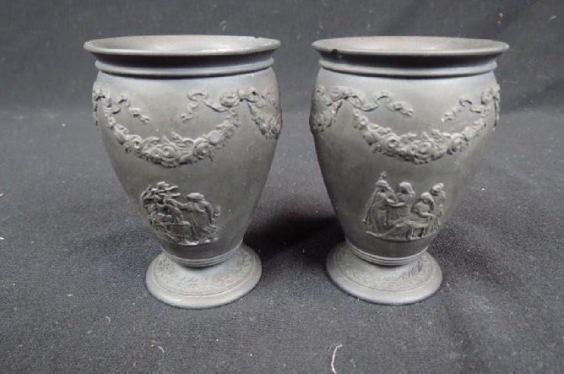 Pair of Wedgwood Basalt Miniature Vases,