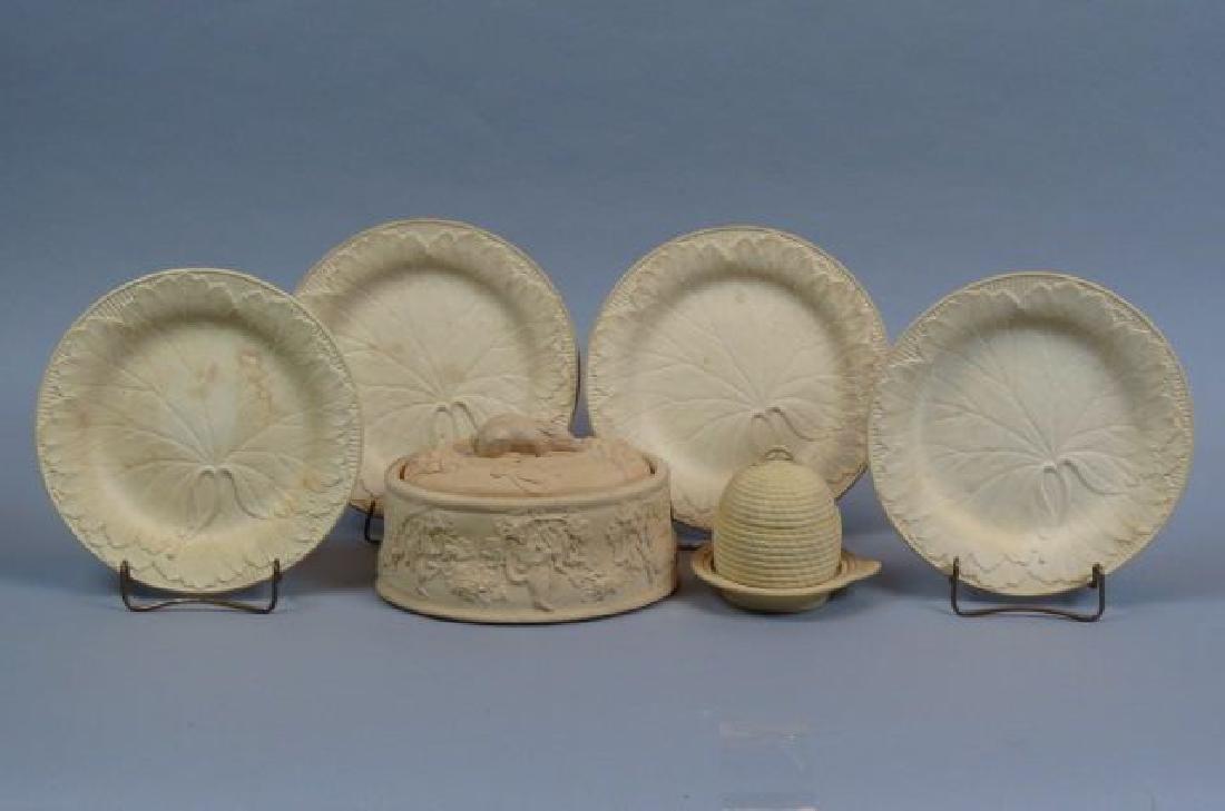 6 pcs. Wedgwood Caneware Pottery;