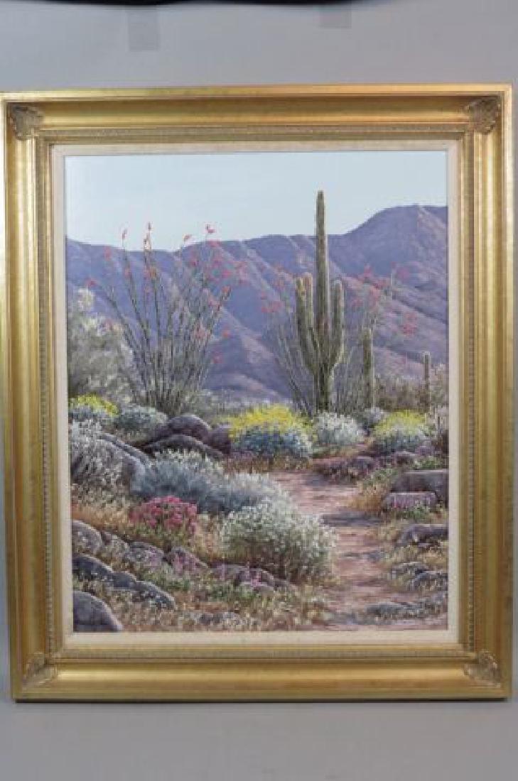 "Linda Lee Kinman, oil, ""Southern Kofa Mountains"","