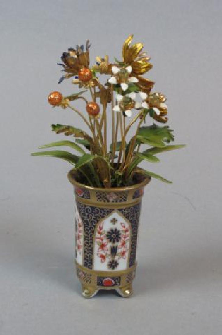 Enameled & Jeweled Floral Arrangement,