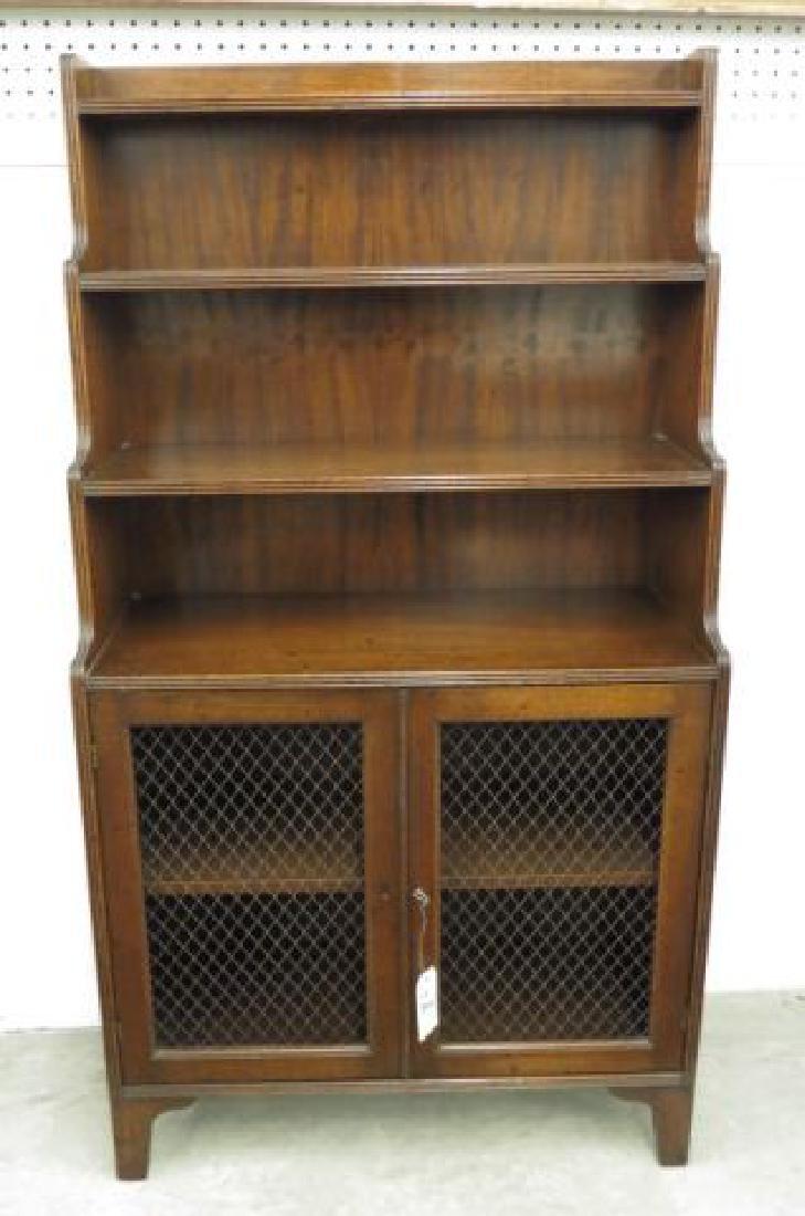 English Mahogany Bookcase,