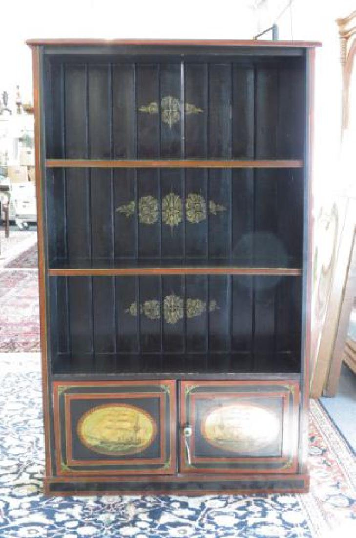 English Painted Bookcase,