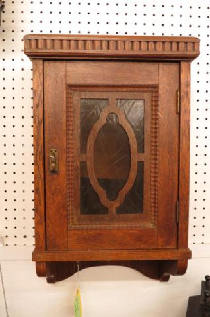 Oak Wall Cabinet, locking,