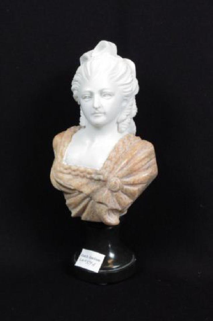 Italian Carved Marble Bust of a Lady,