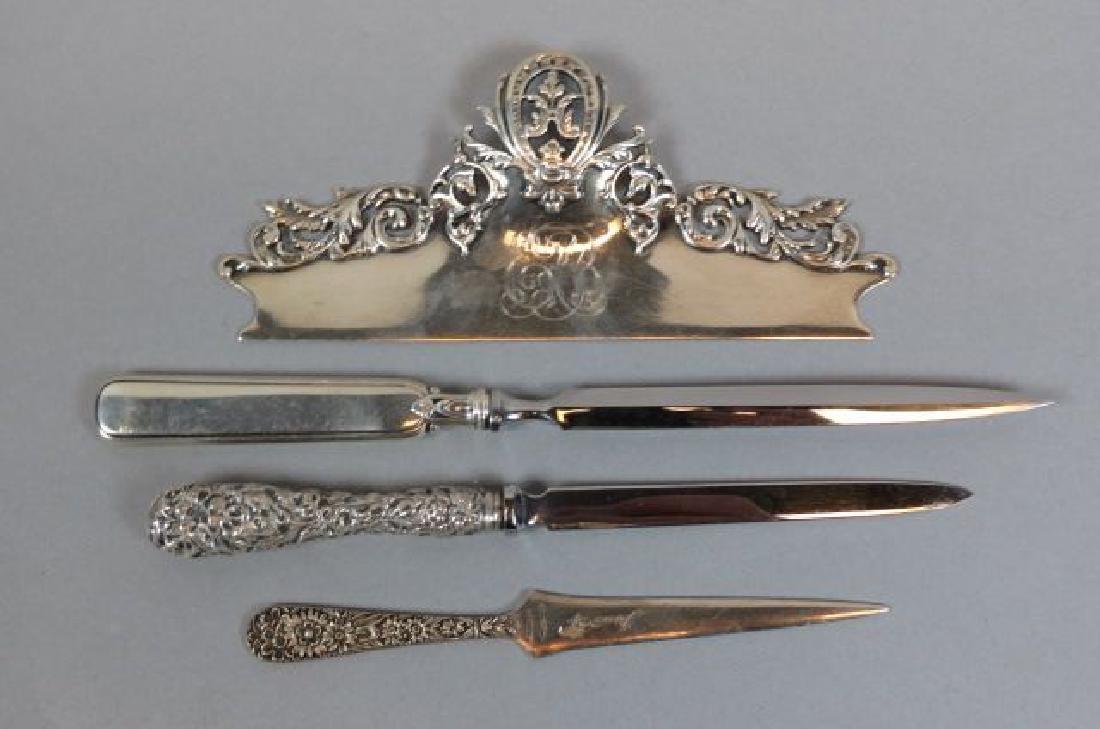 4 Sterling Desk Items,