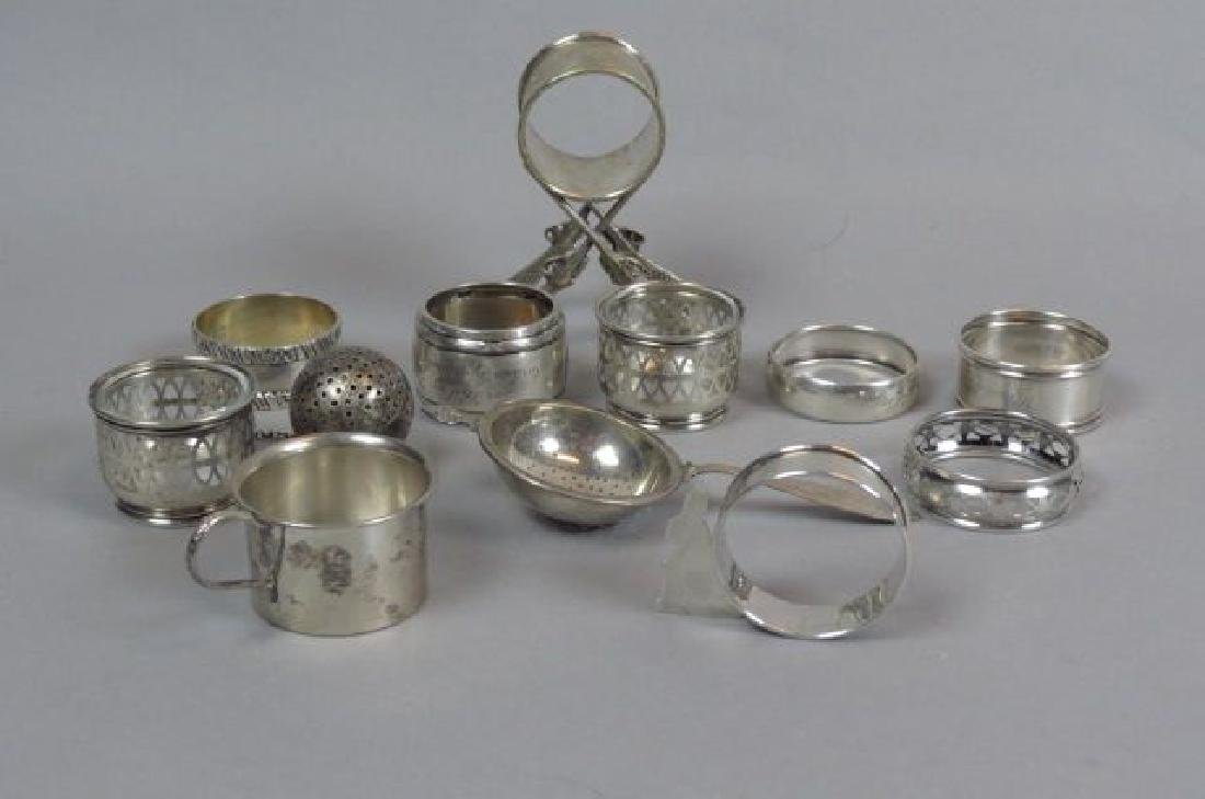 11 pc. Sterling Silver Lot of Napkin Rings,