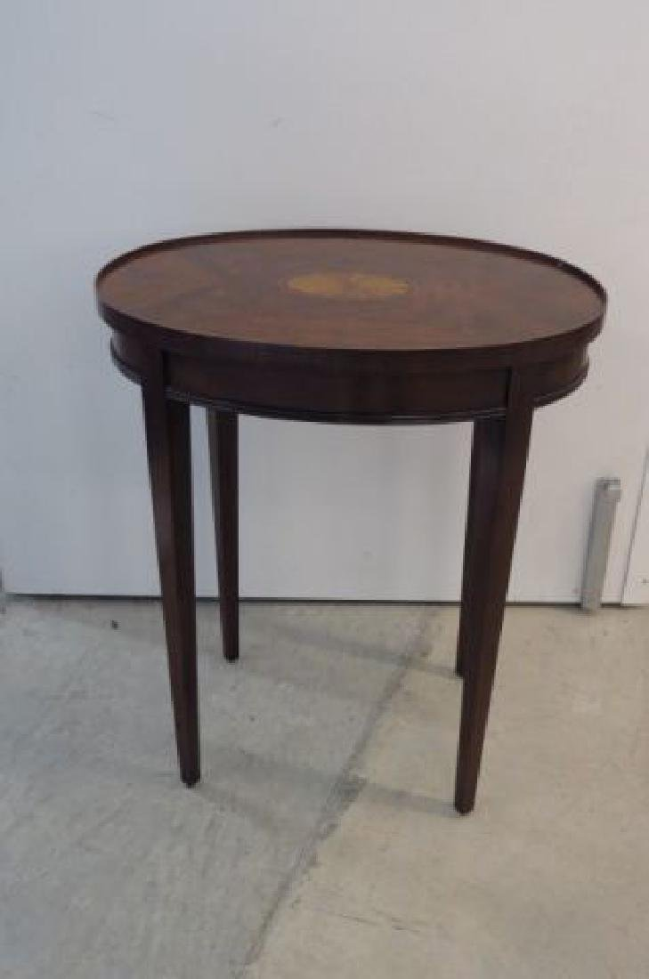 Mahogany Oval Side Table,