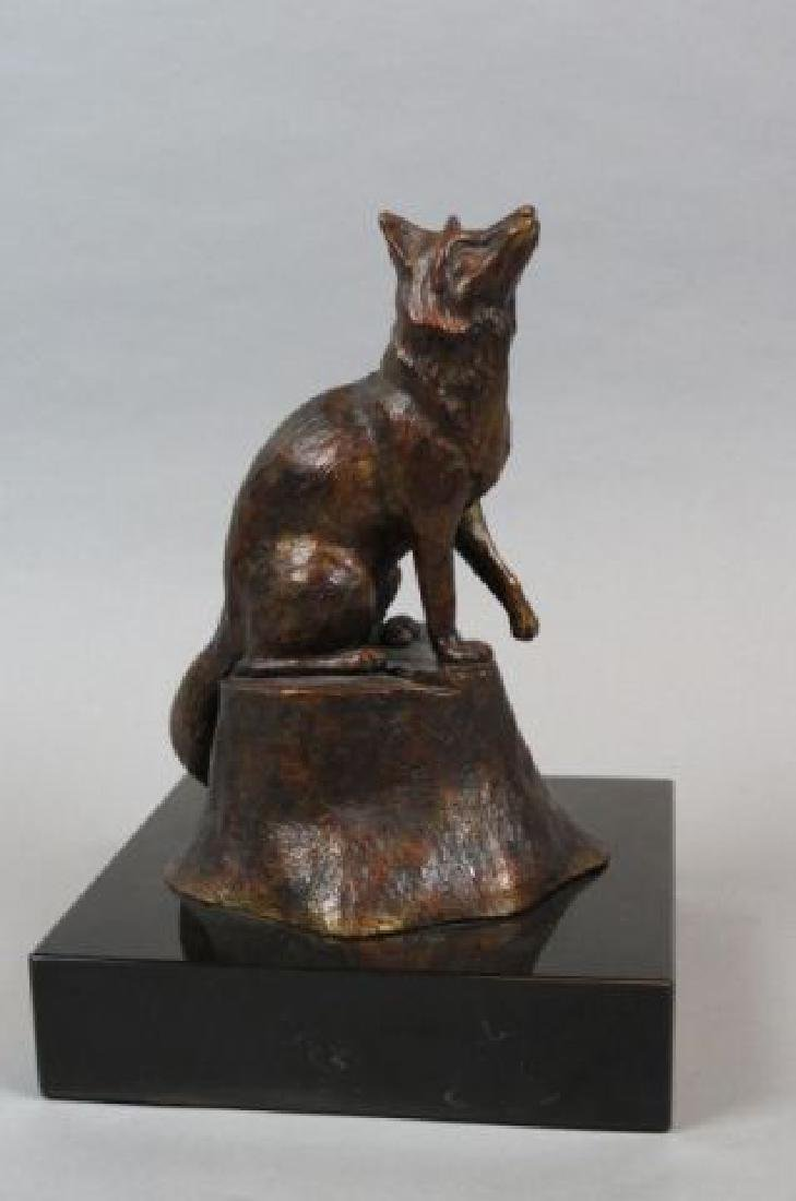 Dale A. Weiler Bronze Figurine of a Fox,