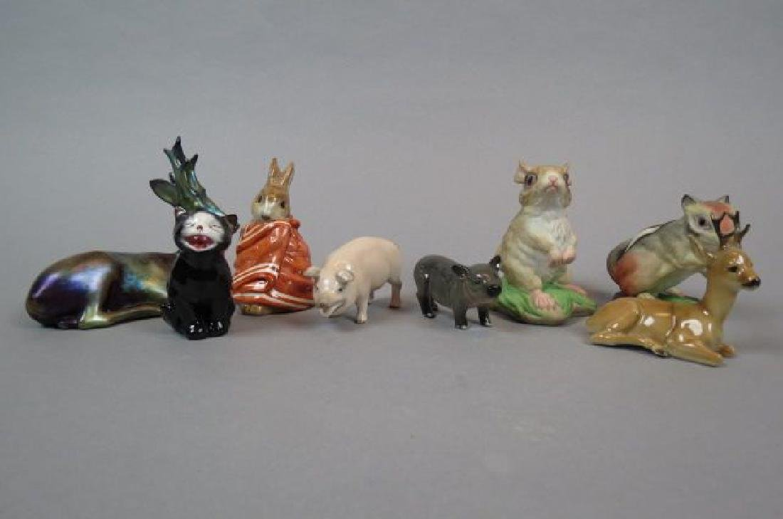 8 Fine Porcelain Animal Figurines,