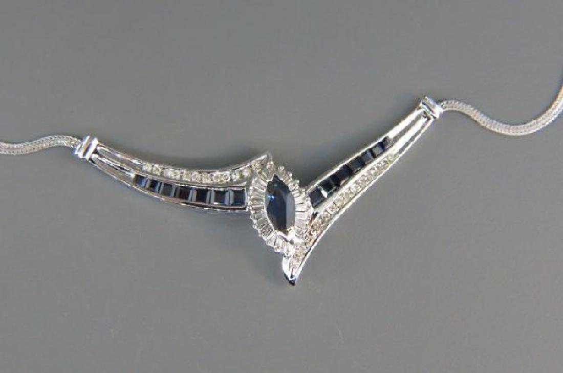 Sapphire & Diamond Necklace,