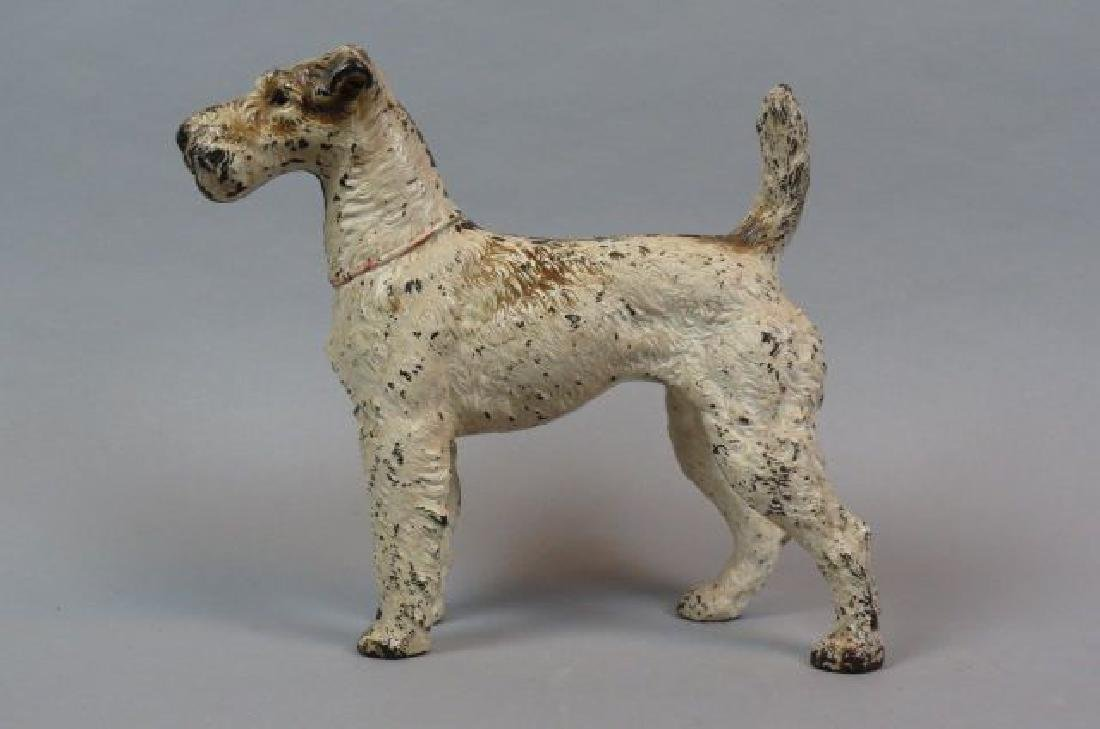 Cast Iron Figural Doorstop of  Wire Haired Terrier