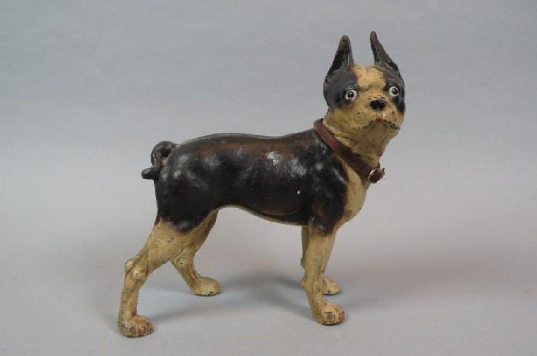 Cast Iron Figural Doorstop of a Bull Terrier,