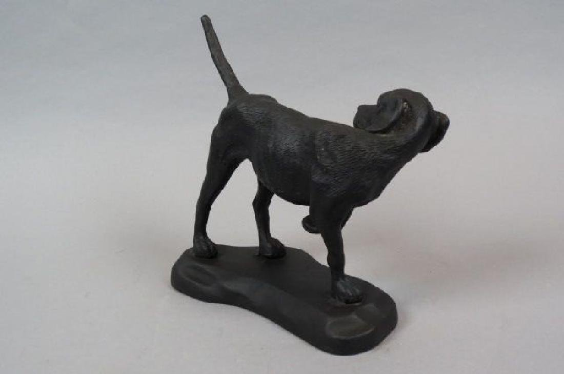 Cast Iron Figural Doorstop of a Pointer,