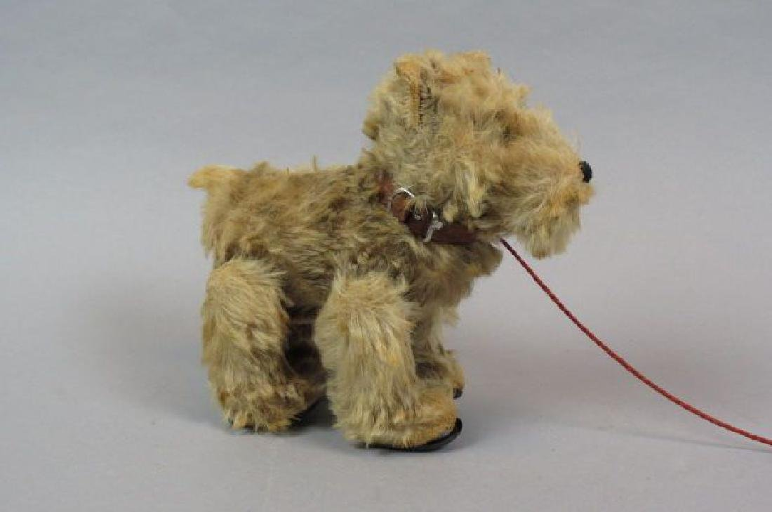 Antique Mohair Dog Pull Toy,
