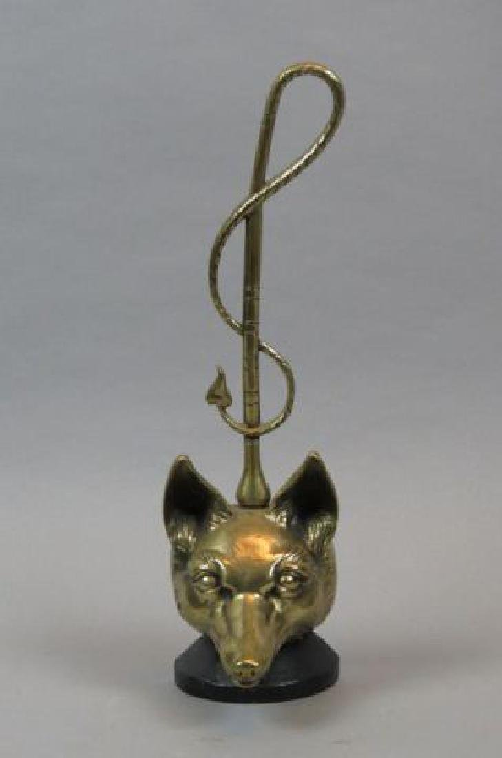 English Figural Fox Head Doorstop,