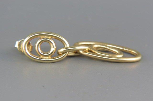 14k Gold Earrings, - 2