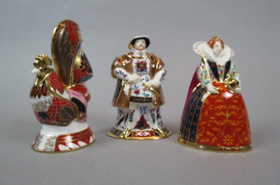 3 Royal Worcester Porcelain Figural Candlesnuffers