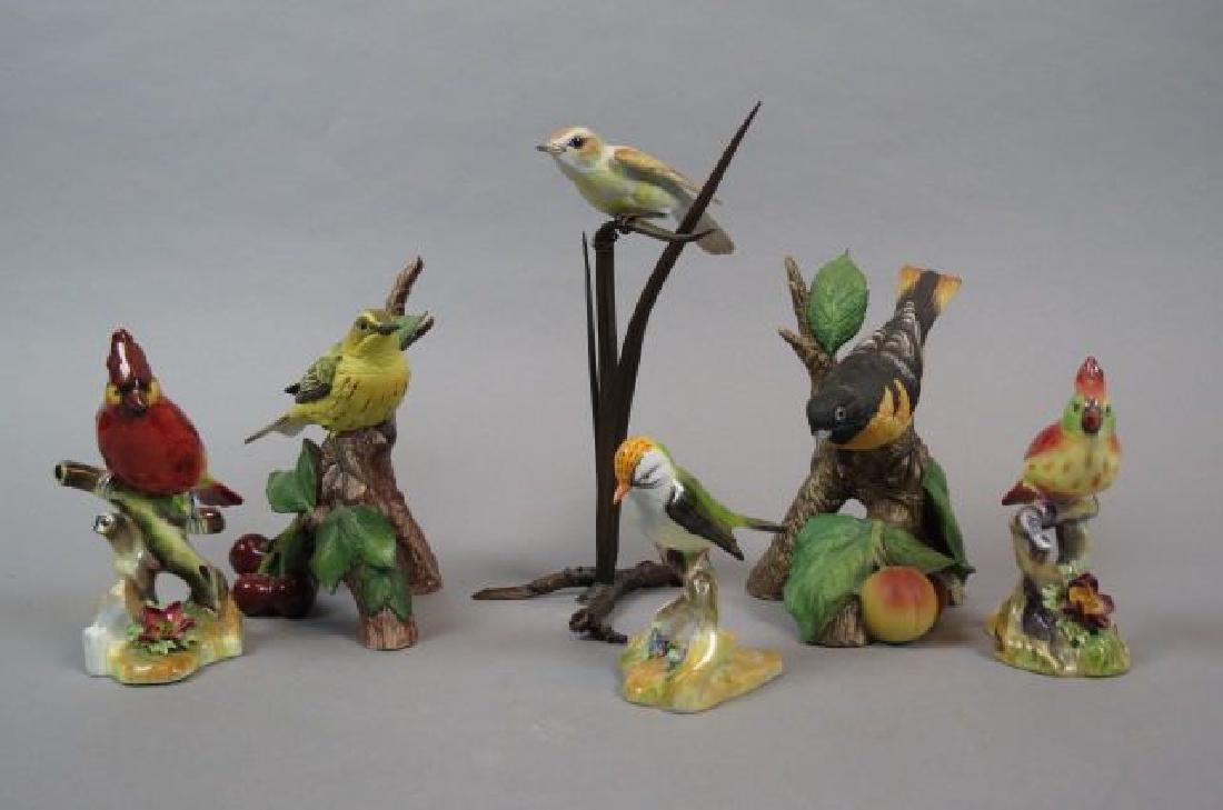 6 Porcelain Bird Figurines by Worcester, Adderley