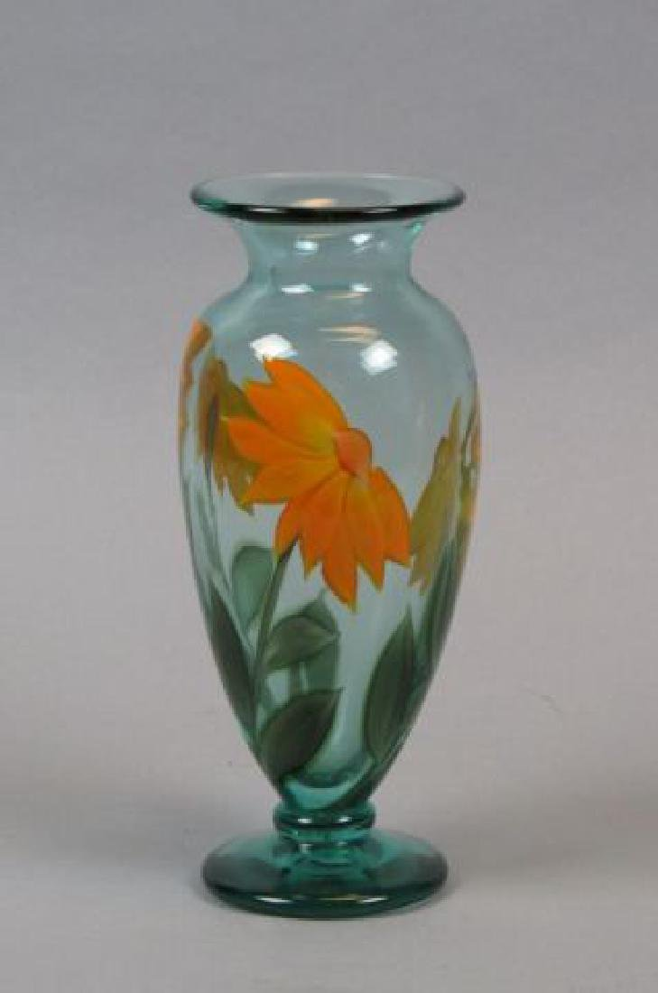 "Orient & Flume Art Glass ""Paperweight"" Vase,"