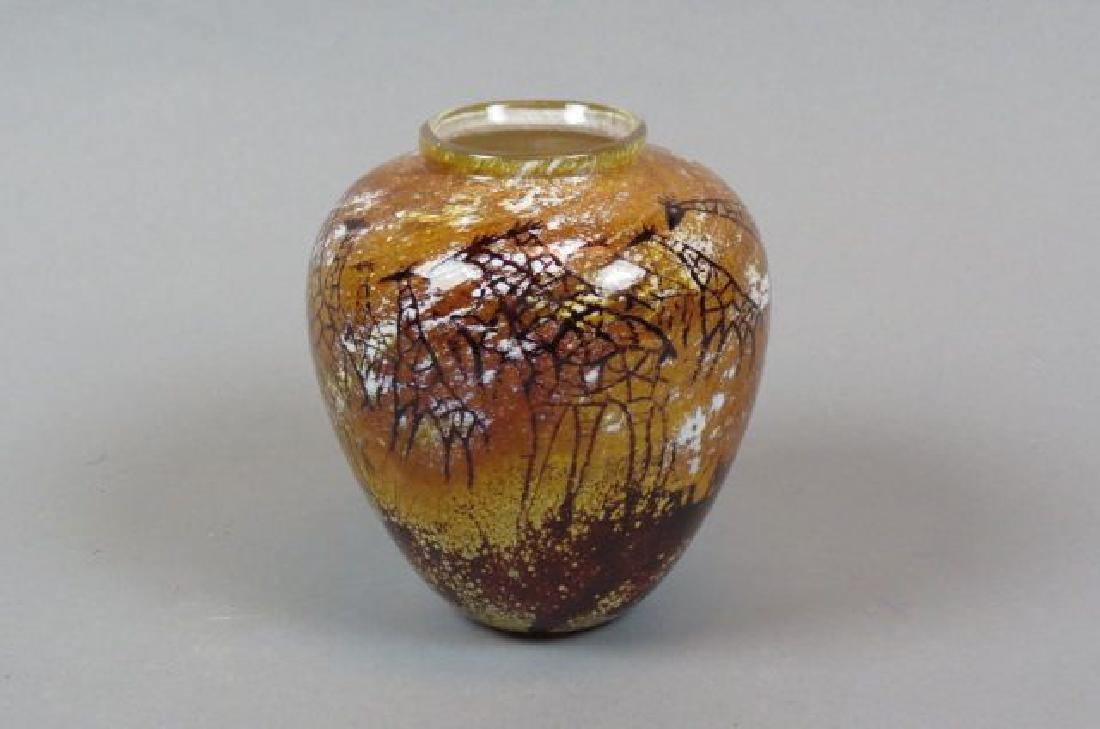 Paul Crosbie Studio Art Glass Vase,