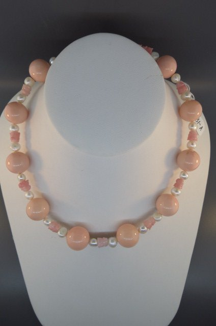 Coral & Pearl Necklace,