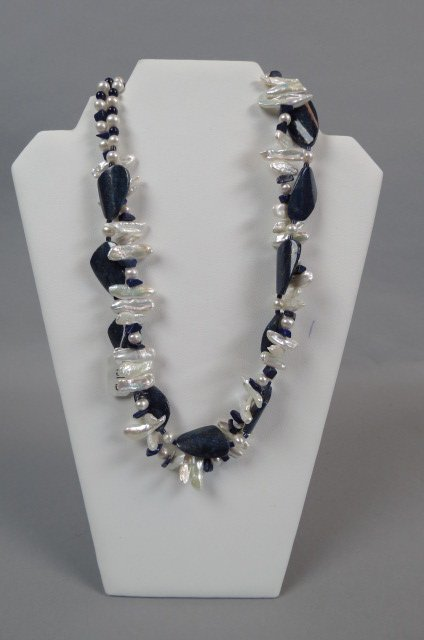 Lapis & Pearl Necklace,