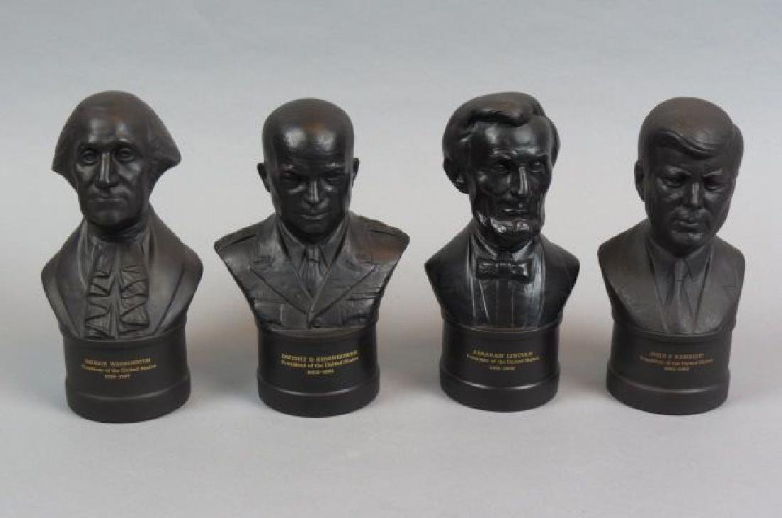 4 Wedgwood Black Basalt Busts,
