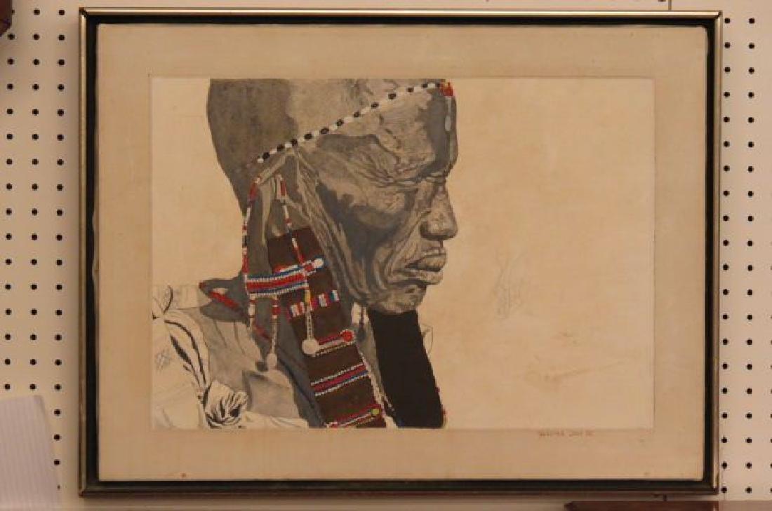 Walter M. Cade III, mixed media, Tribal Man,