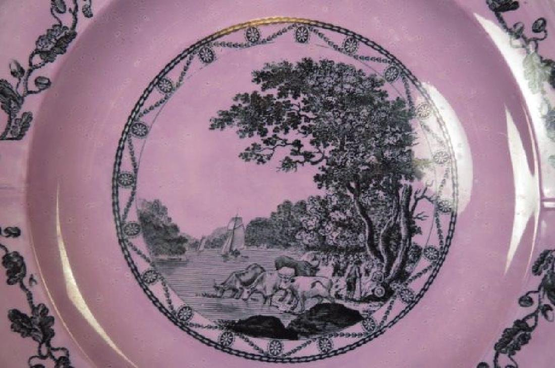 "8 Wedgwood Etruria ""Bewick"" Lustre Plates, - 4"