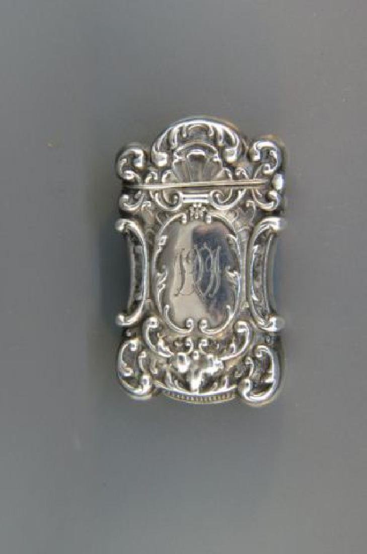 Victorian Sterling Match Safe with Hidden Photo,