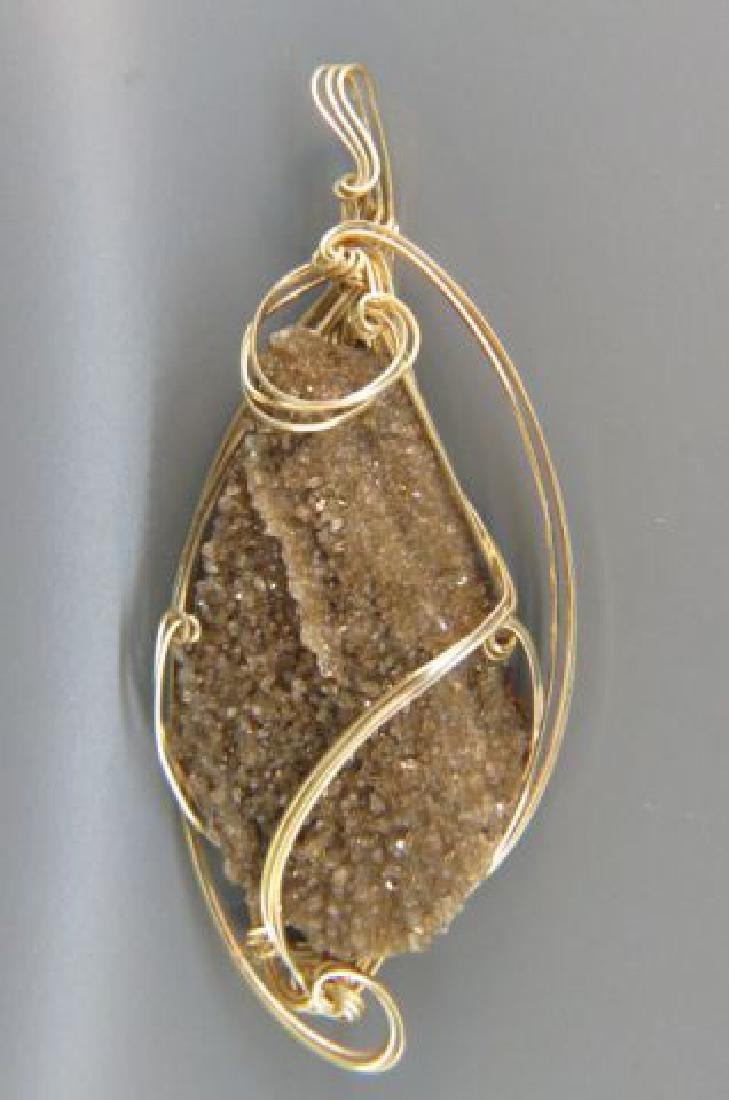 Druzy Crystal Pendant,