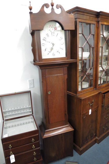Mahogany Tall Case Clock, 18th Century,