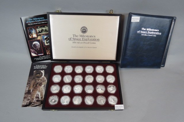 "24pc. Proof Coin Set ""Milestones in Space Exploration"""