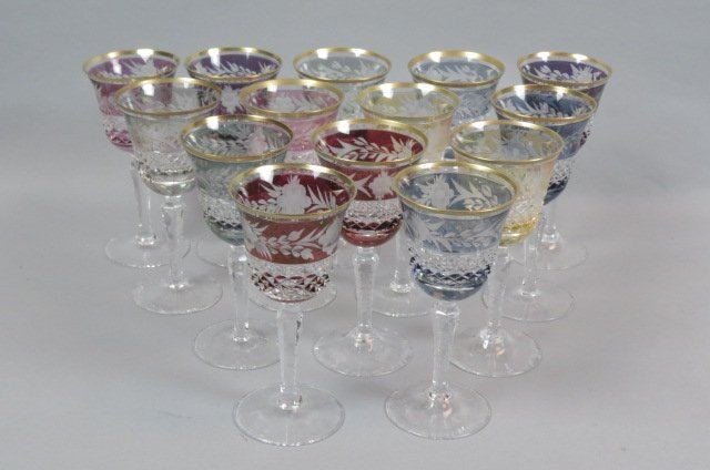 14 Cut-to-Clear Crystal Wine Glasses,