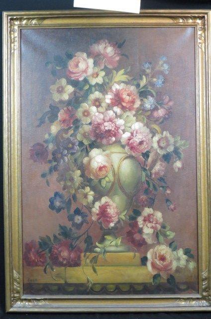 Vonne, oil, Floral Still Life,