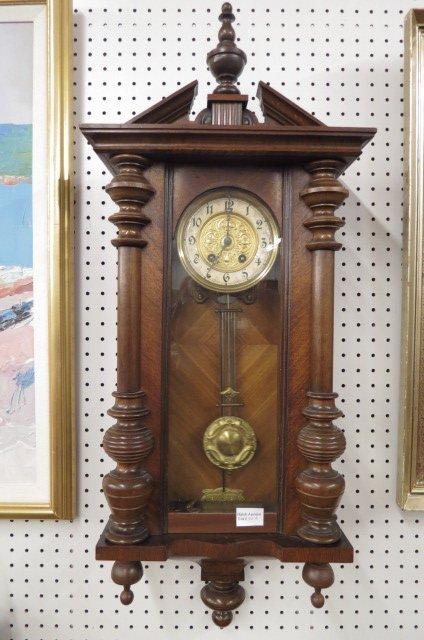 19th Century Vienna Regulator Wall Clock,