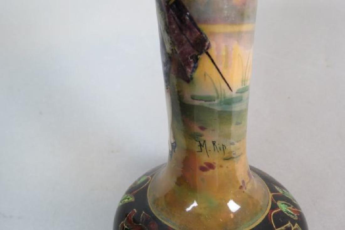 French Enamel Vase, - 5